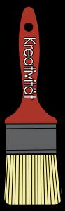 Der Pinsel symbolisiert das Werkzeug Kreativität